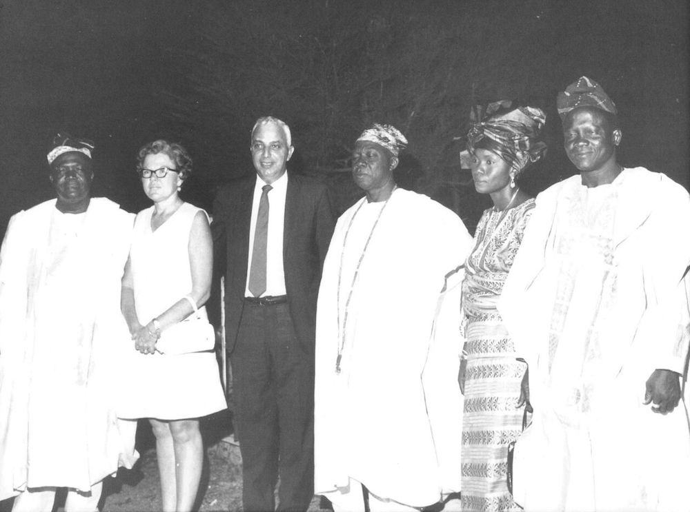 Marion and George Naifeh at a reception in Lagos.