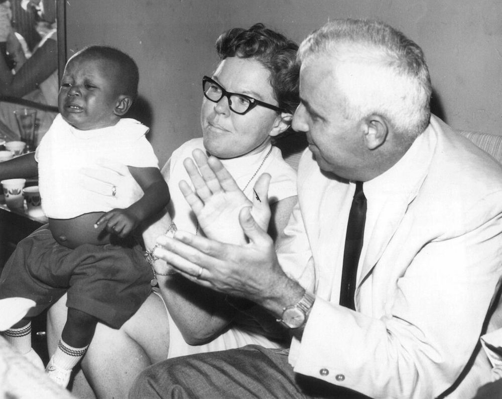 George and Marion Naifeh with the son of Ade James.