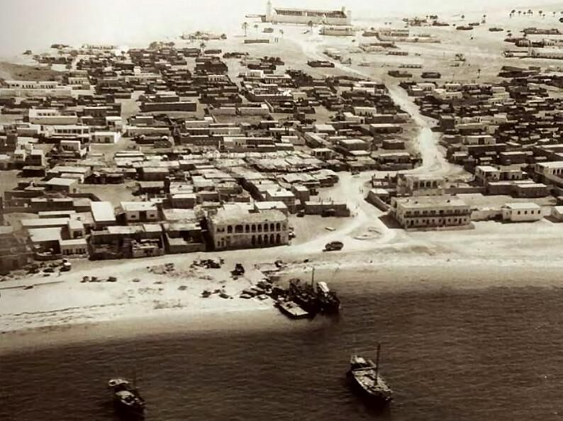 Abu Dhabi before oil was discovered in 1958.