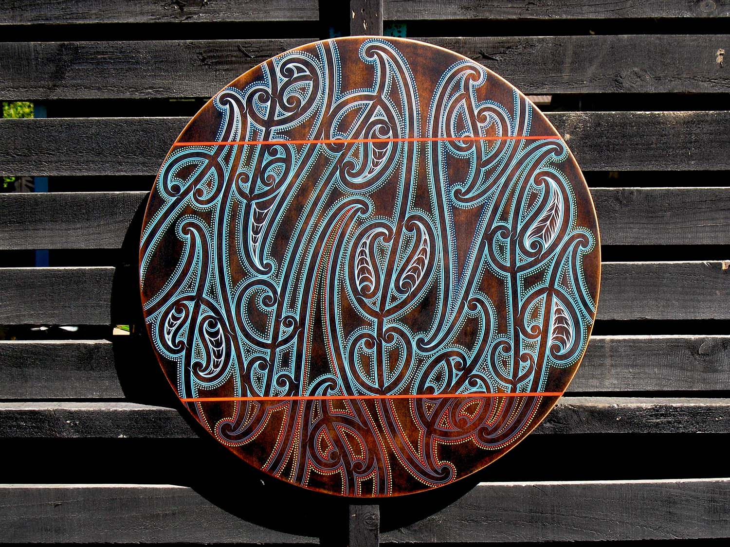 Earth-Sea-Sky-round-wooden-artwork-by-Tony-Harrington