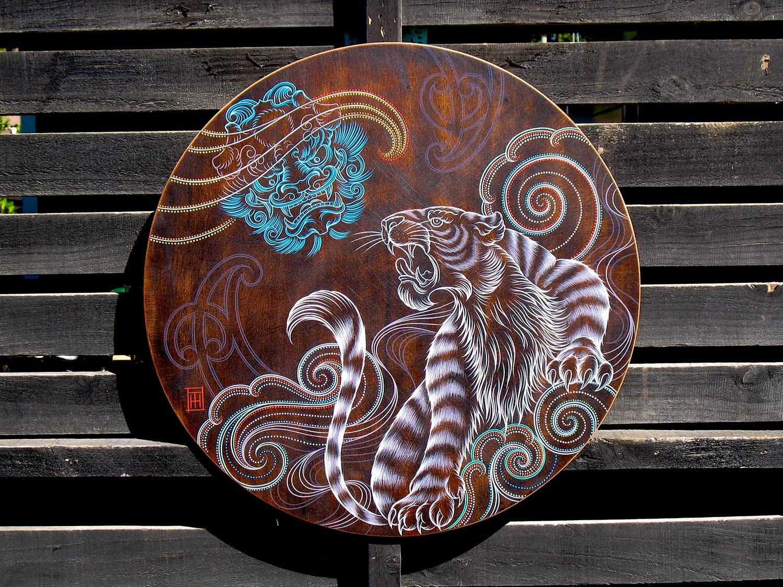 Rising-Up-round-wooden-artwork
