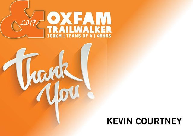 Thank You! #wewalked100km #forpoverty #oxfamtrailwalker #melbourne #2019 #appreciation #levelup