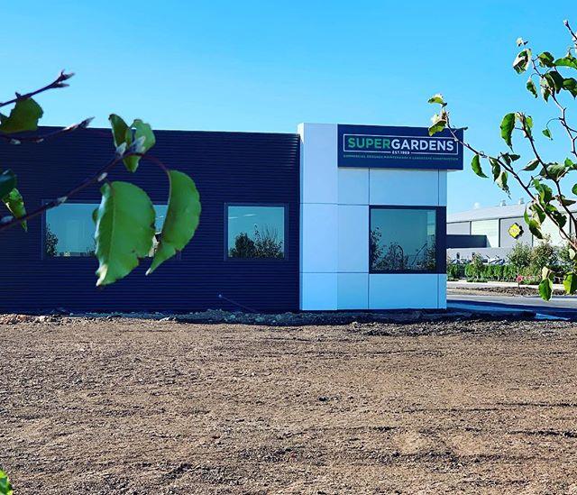New office for @super.gardens near completion #essendonfieldsairport #newbuild