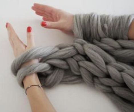 $85 - Arm Knitting Workshop  Learn to knit a chunky blanket.