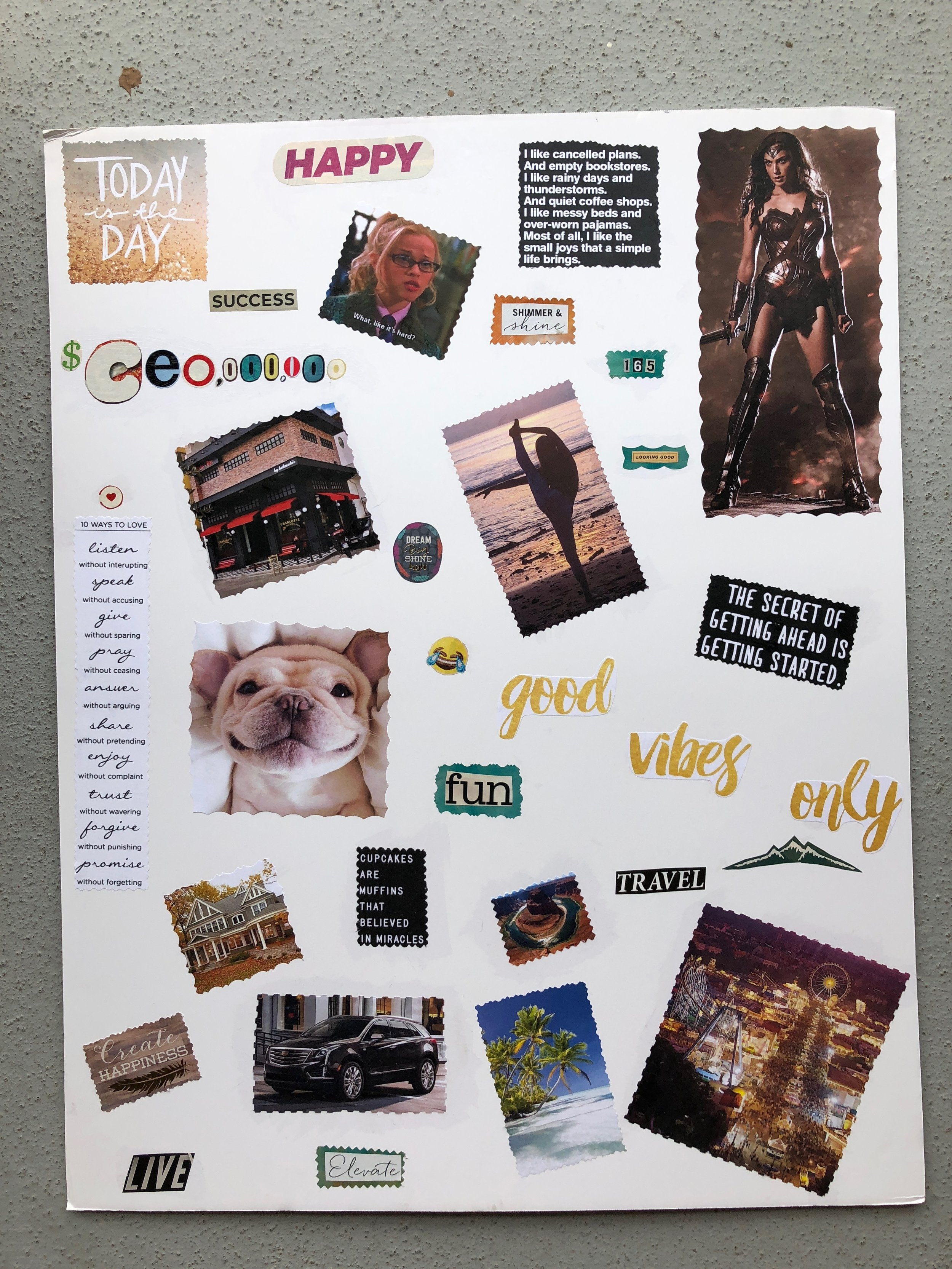 $10 - Vision Board Workshop  New year special. Workshop provides guidance on goal making and designing a vision board. Take home one completed board!