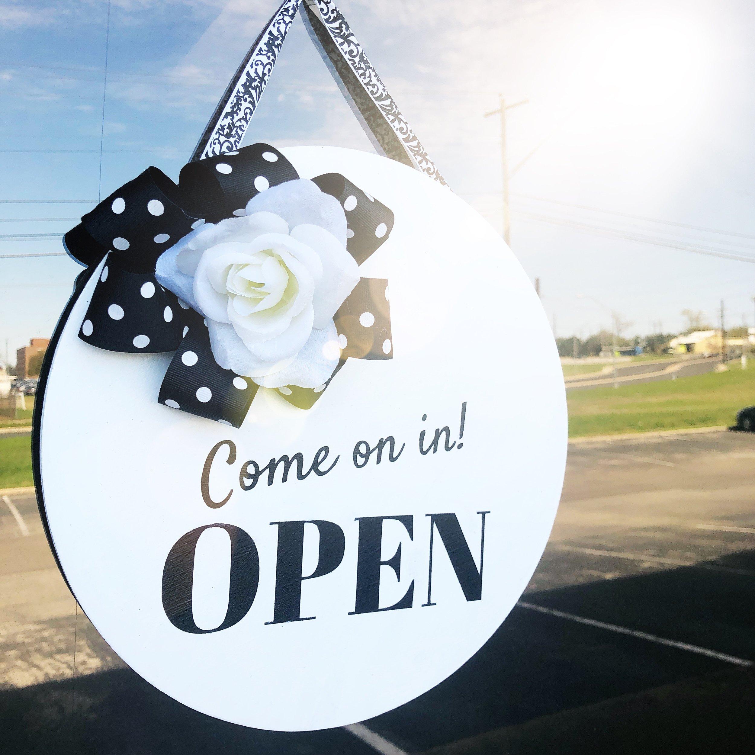 $ 45 - Door Hanger Workshop  Stain, paint, and decorate a custom door hanger. Seasonal options available.
