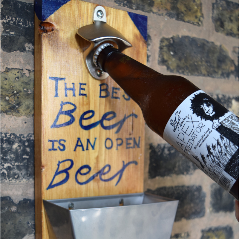 $45 - Beer Bottle Opener  Stain, paint, and build a custom wall hanging bottle opener.