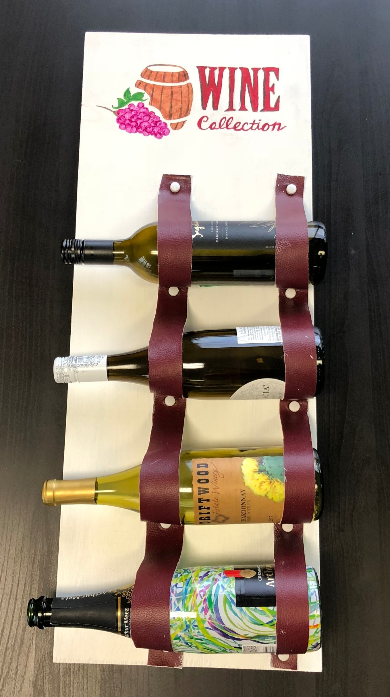 $65 - Wine Rack Workshop  Stain, paint, and build a custom wine rack.
