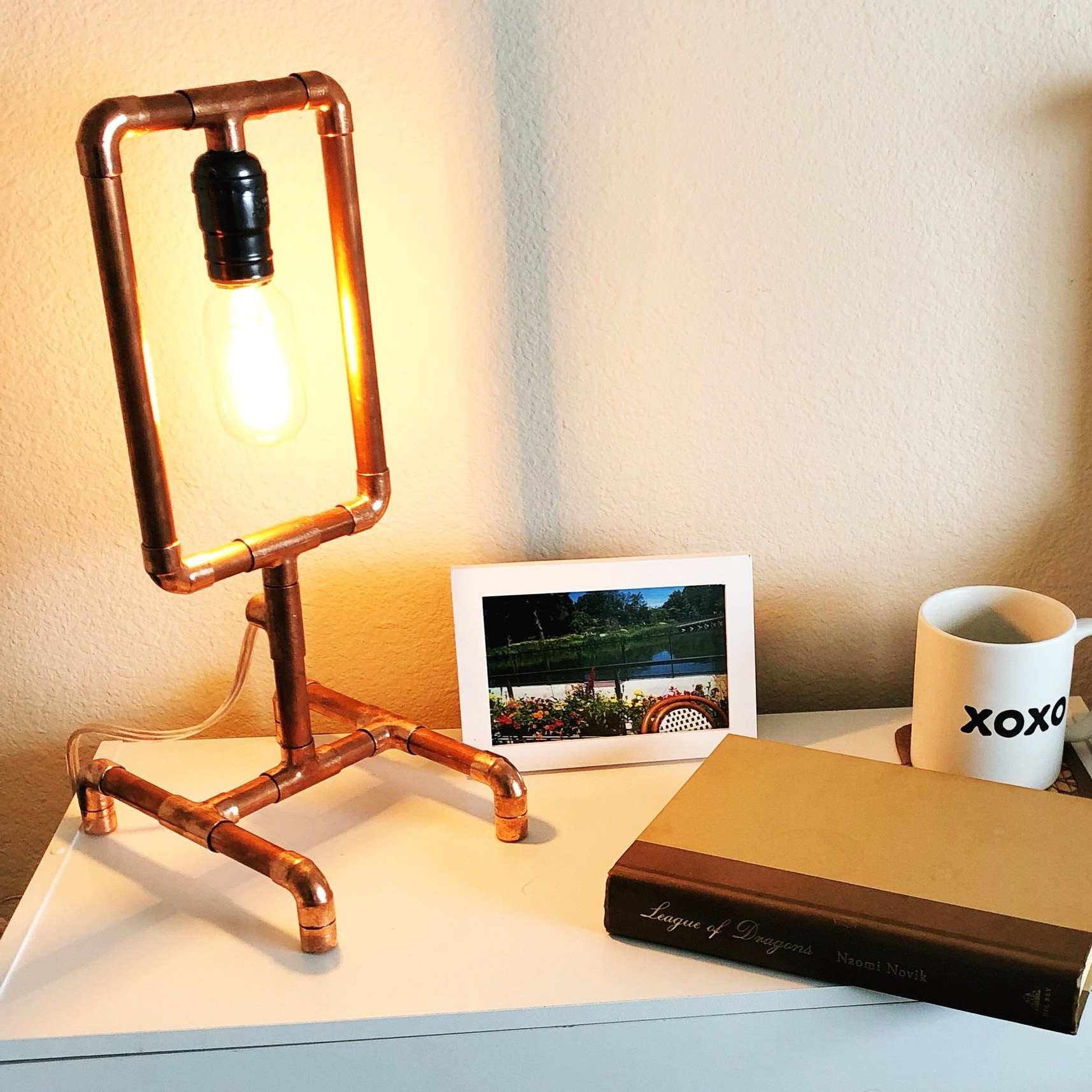 $85 - Copper Pipe Lamp Workshop  Learn to work with copper pipe, wire plugs and sockets, and build a lamp. Multiple designs to choose from.