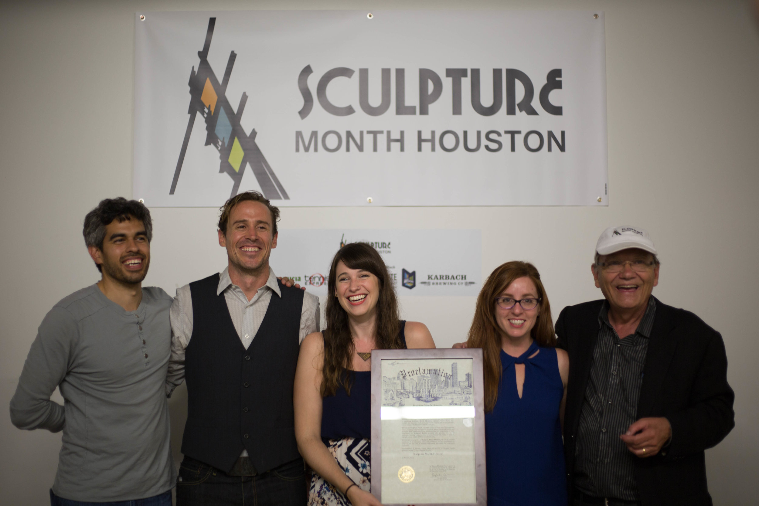 Sculpture Month Houston Hosts with Proclamation at SITE Gallery Houston