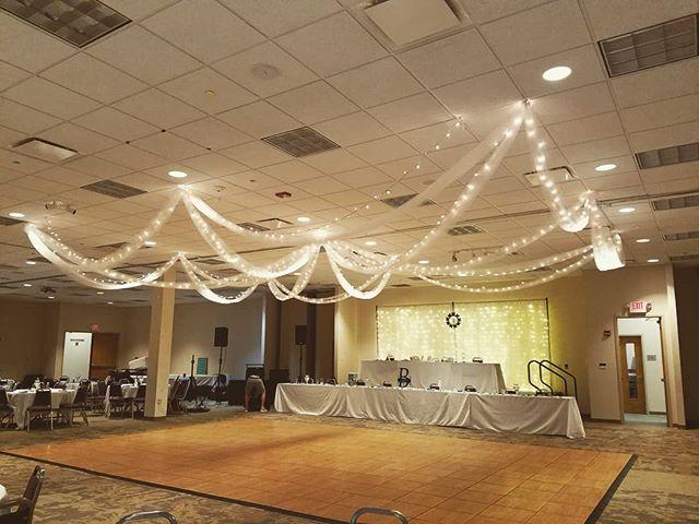 #ceilingdesign #ceilingdraping #backdrop #lights #lovingwhatido #eventdecor #eventplanner #eventdesign #ohioeventplanner