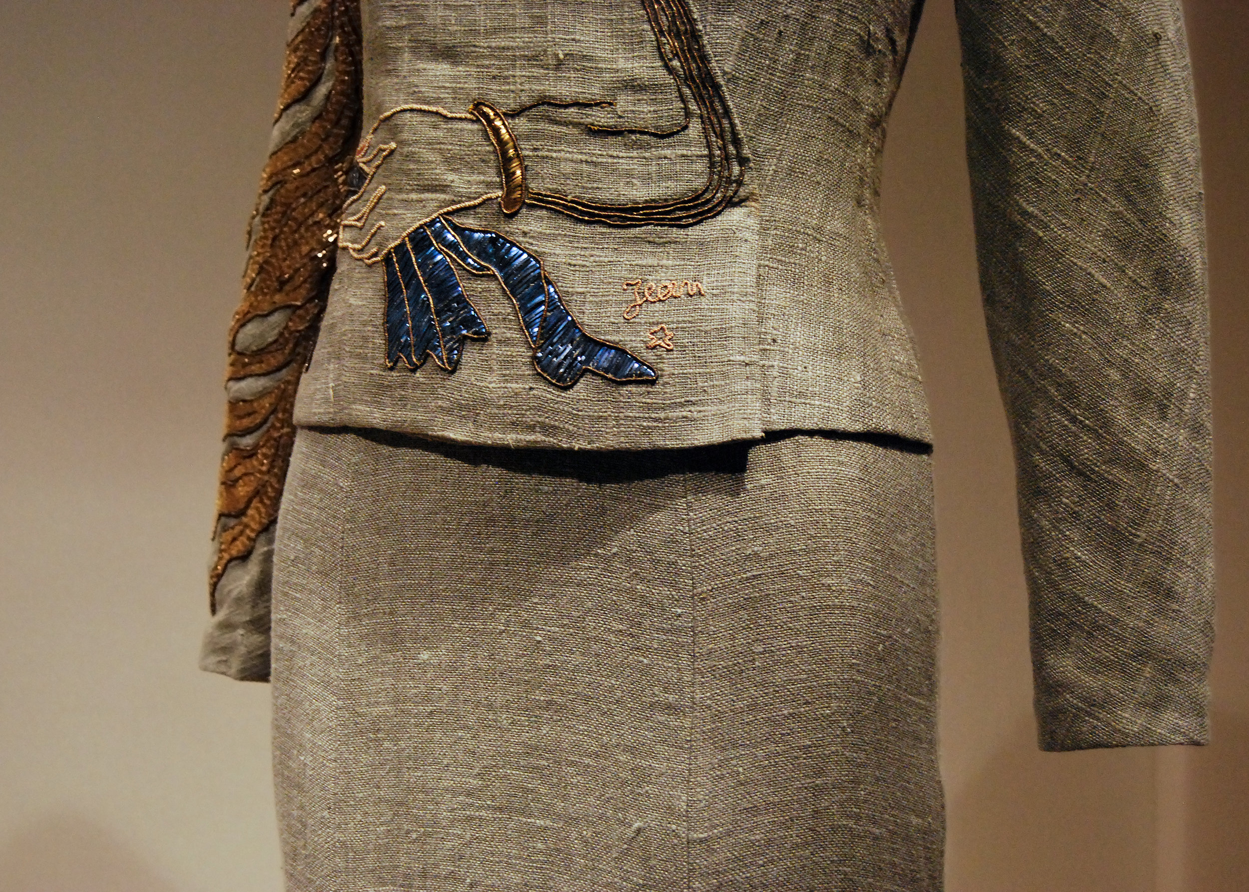 Elsa Schiaparelli , Evening Jacket, autumn 1937, haute couture (in collaboration with Jean Cocteau and House of Lesage)