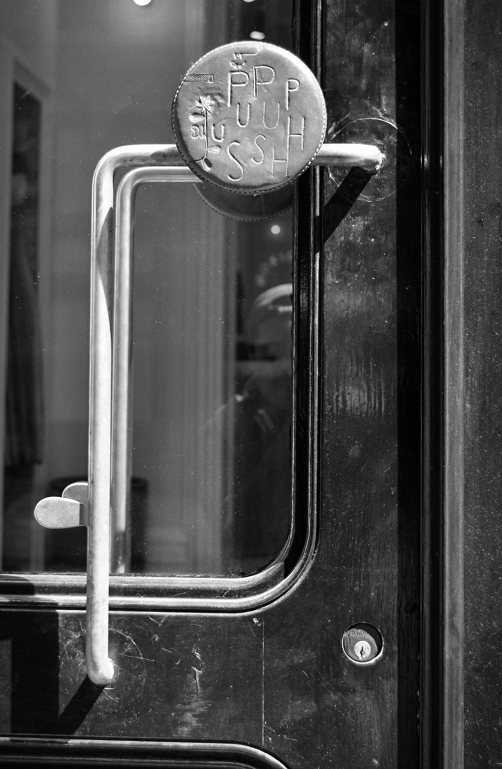 Door handle at M. Crow & Company, 16 Howard Street