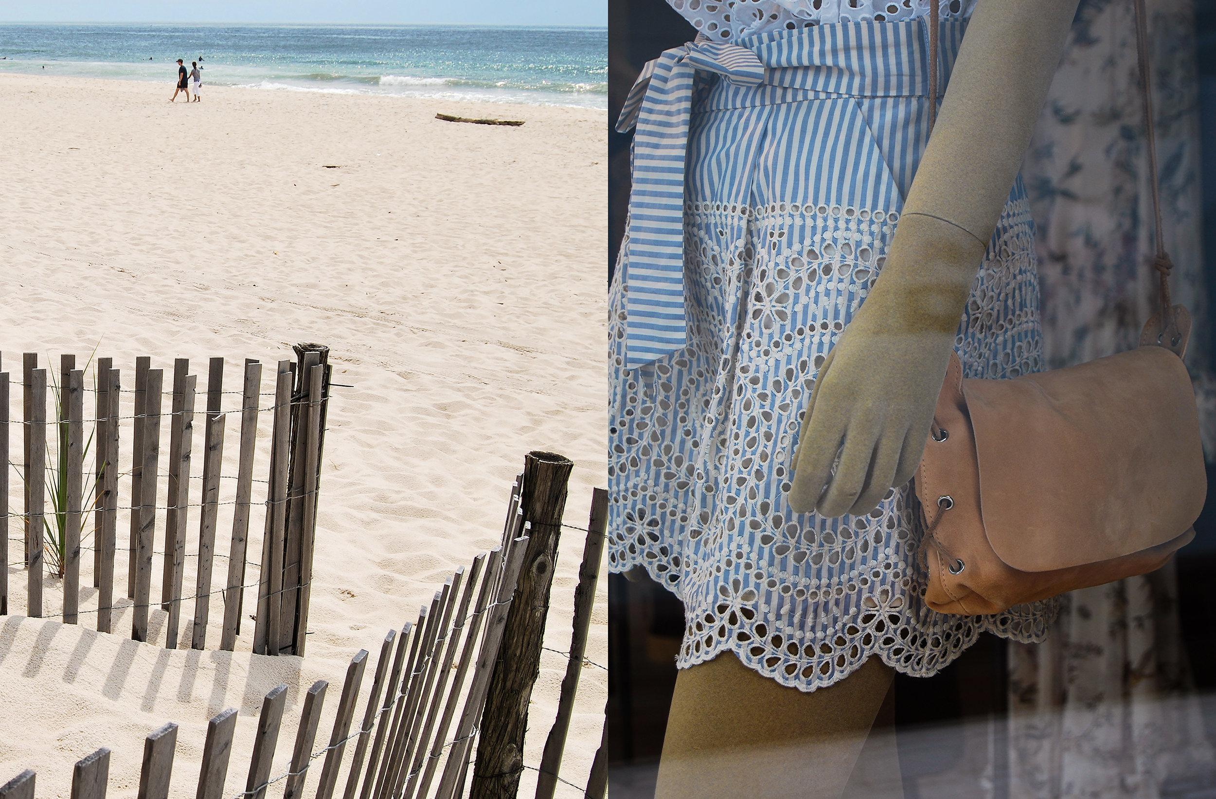 Left: Cooper's Beach, Southampton; right: Zimmermann , East Hampton
