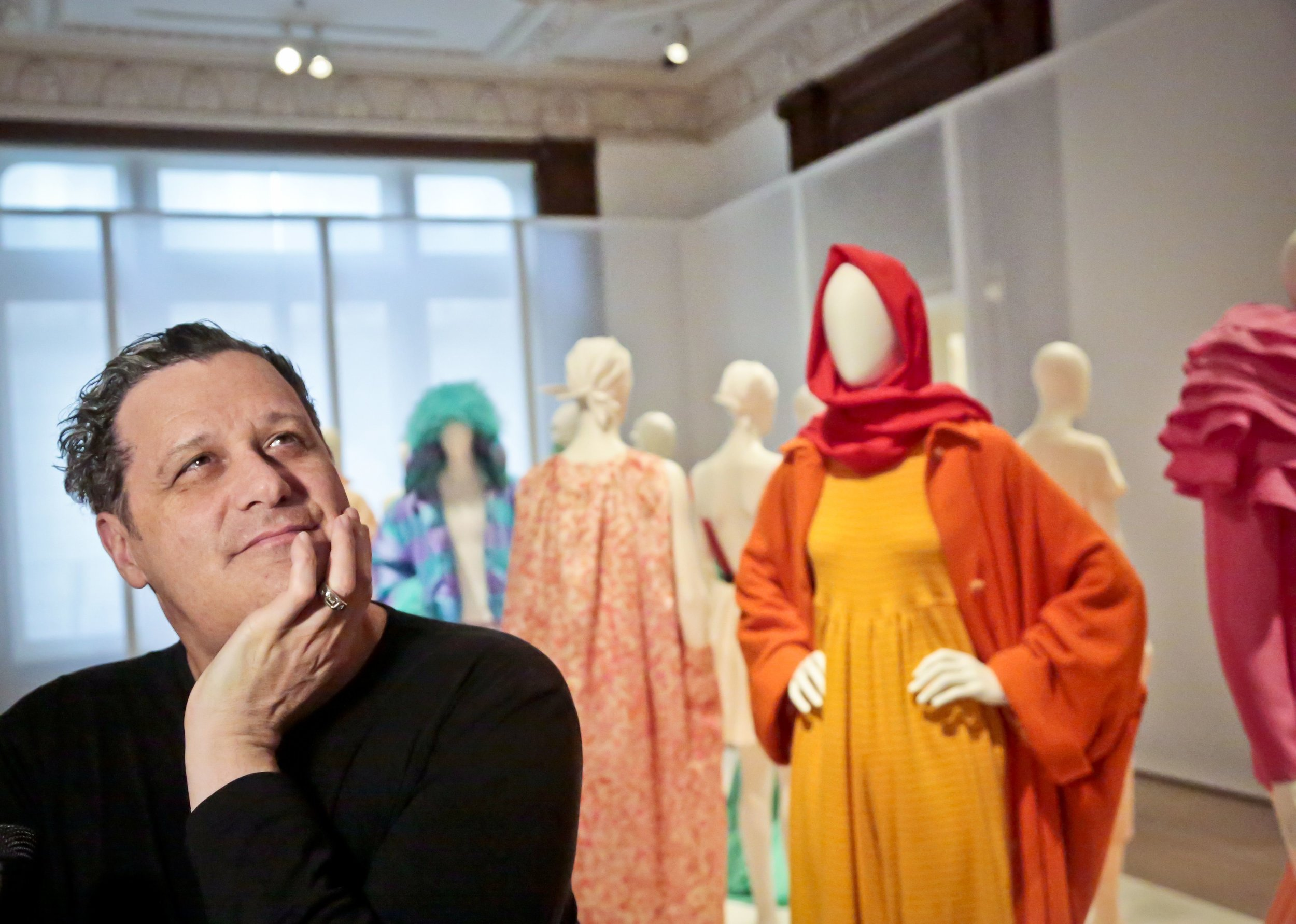 Isaac Mizrahi (born October 14, 1961) is an American  fashion designer , TV presenter, and Chief Designer of the Isaac Mizrahi brand for  Xcel Brands . [1] Based in  New York City , he is best known for his eponymous fashion lines. Mizrahi currently serves as a judge on   Project Runway: All Stars  .  -Wikipedia (photo from  yahoo.com )