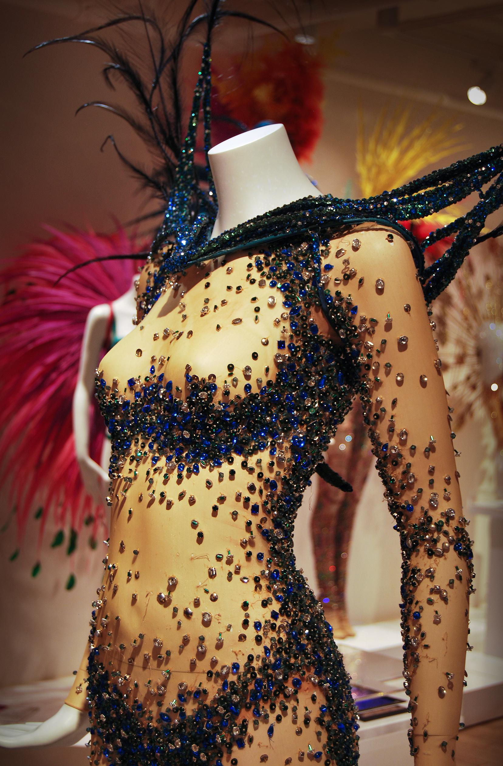 BRIGHT NIGHT ANGEL. Hand-embroidered bodysuit with Swarovski crystals