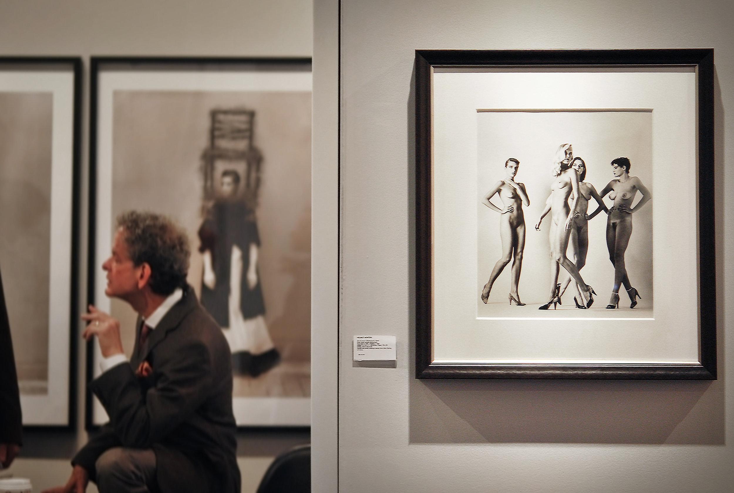 """Helmut Newton, """"Sideways,"""" 1981.  Holden Luntz Gallery"""