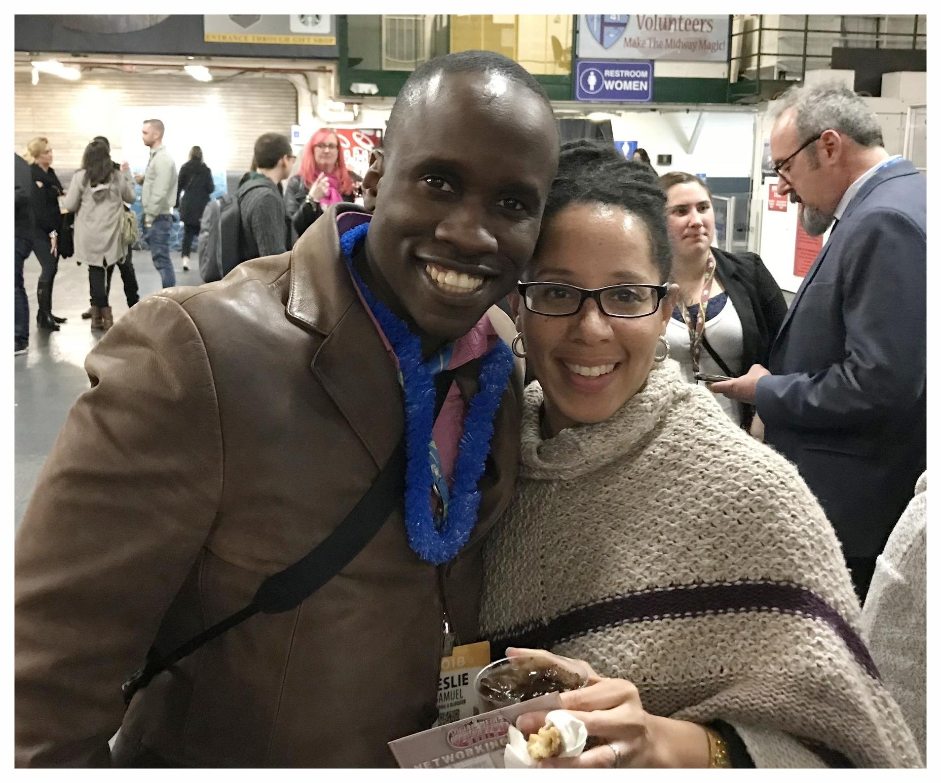Finally getting to meet Leslie Samuel!!!