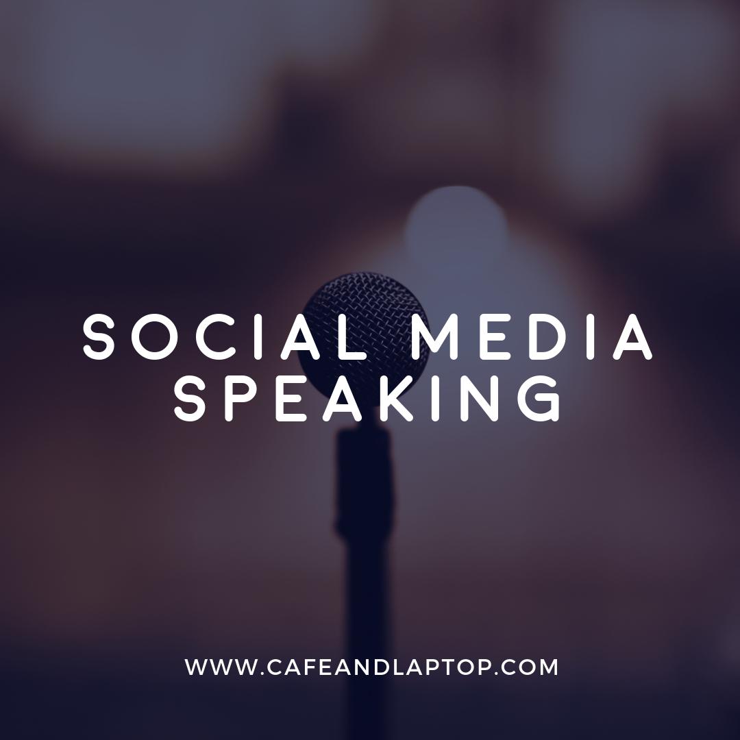 social media speaking