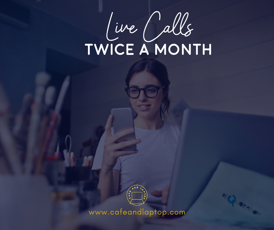 LIVE CALLS - This is where the magic happens. How many times have you had an online business question, and you just couldn't find the answer?In the Elite Social Business Cafe, we will have bimonthly Q&A calls where I will be sharing my screen with you and answer your pressing social media and online business questions.Even if you can't attend these sessions live, you still have the opportunity to submit your questions ahead of time and watch the replays via the knowledge base.