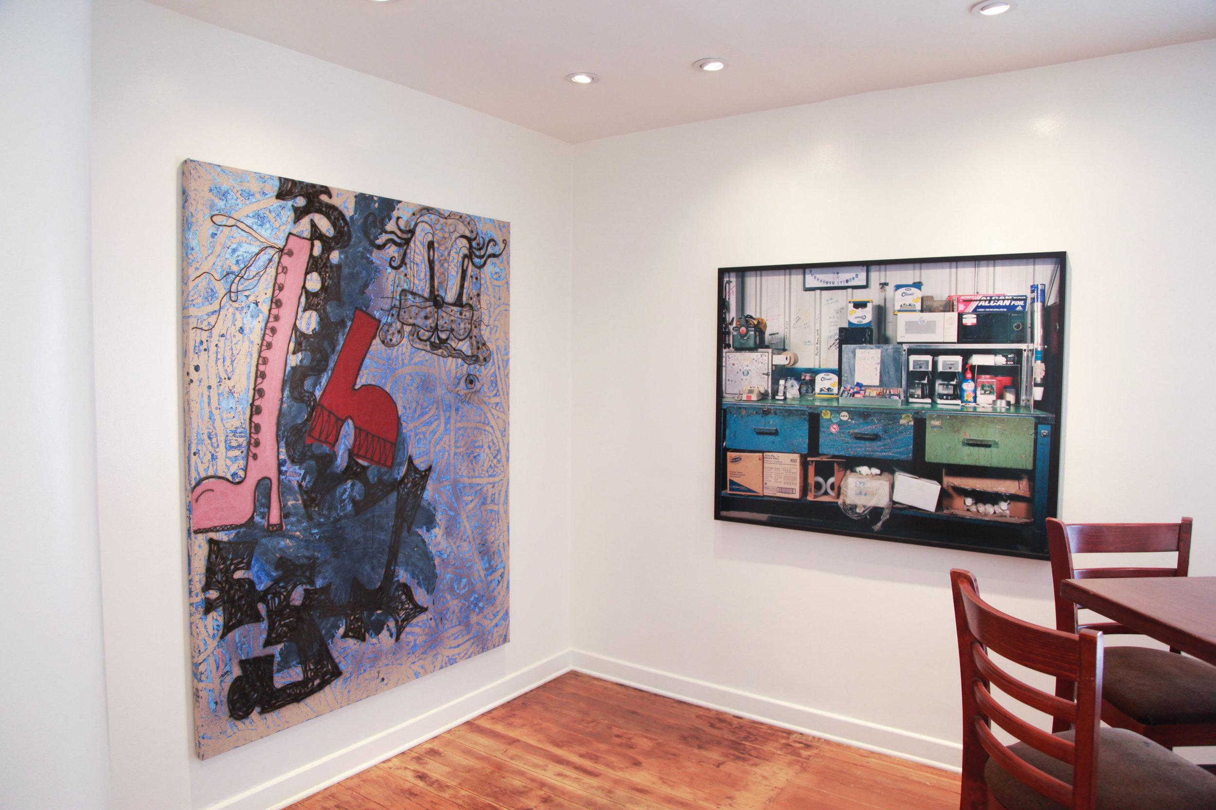 Installation view: Ida Ekblad, Sharon Lockhart