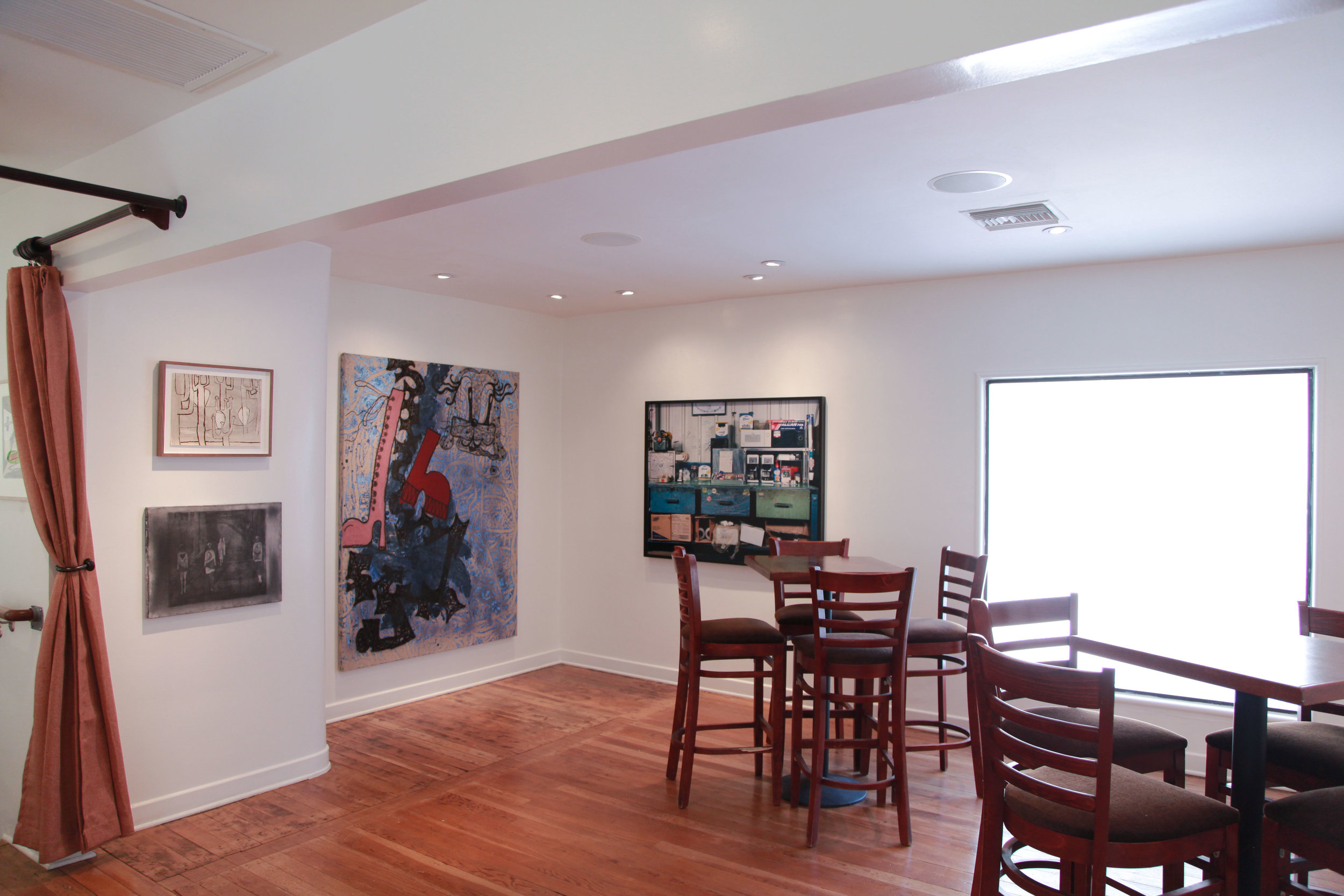 Installation view: Luchita Hurtado, Silke Otto-Knapp, Ida Ekblad, Sharon Lockhart