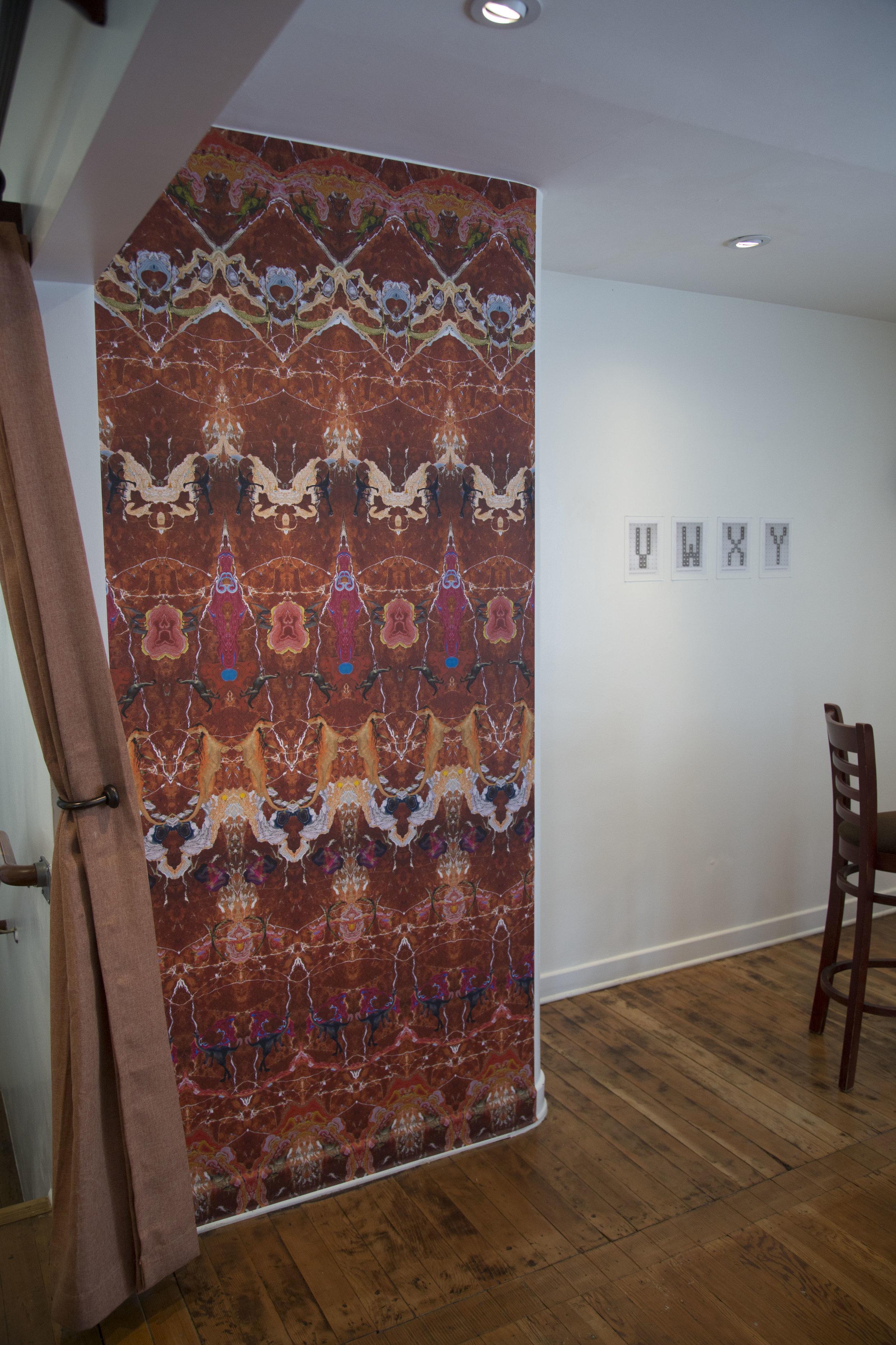 Installation view: Kerstin Brätsch, Shannon Ebner