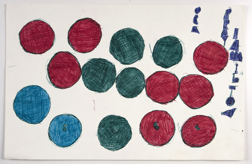 Ray Hamilton   Untitled , 1989, Ballpoint on paper, 13 x 20 inches