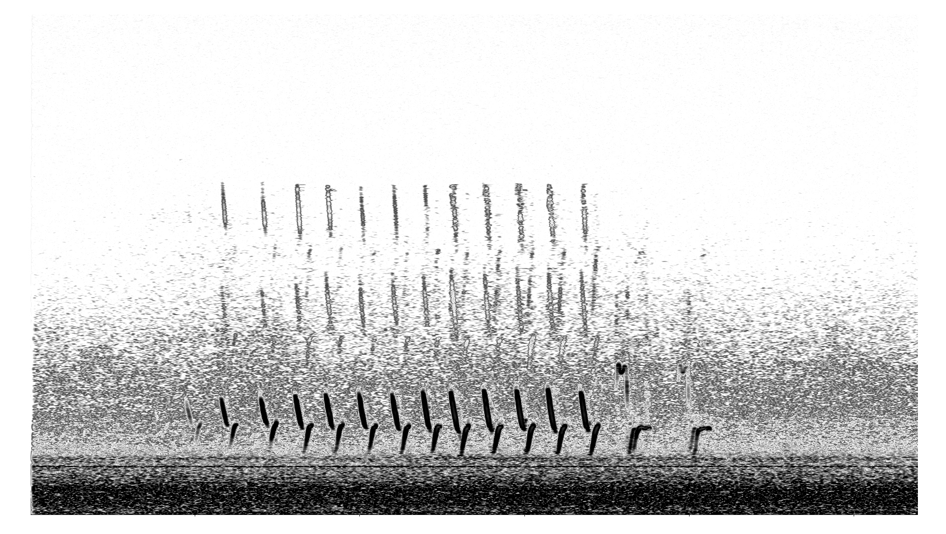 K.r.m. Mooney   Spectrogram II , 2018, Spectrogram, 6 x 3 ⅛ inches