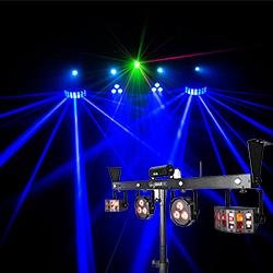 Our lighting rig setup- the Chauvet Gigbar IRC