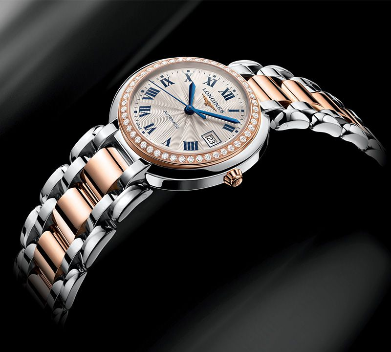 Material : Stainless steel and 18 karat pink gold cap 200  Reference:L8.111.5.78.6  Learn more  here