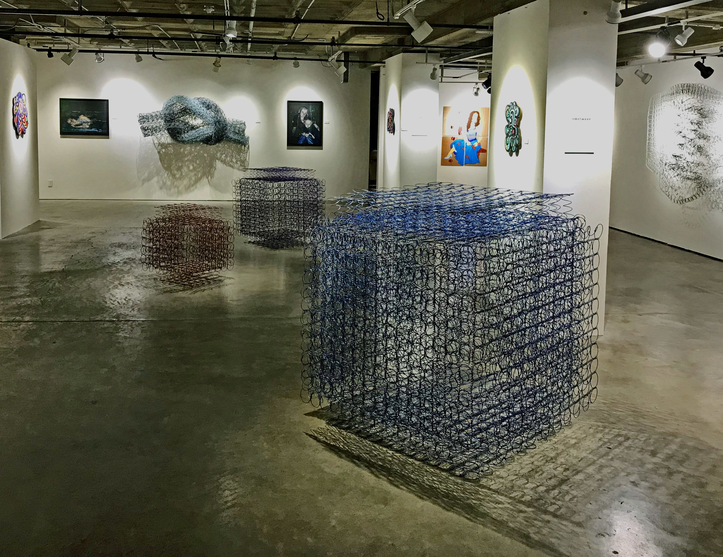 Cubes separated for a group show AT Progress Gallery in Pomona CA