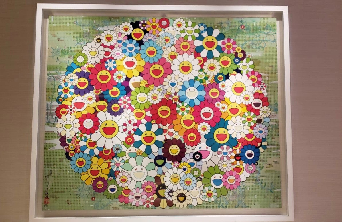 Open Your Hands Wide by Takashi Murakami   photo credit - Kimberly Iniba