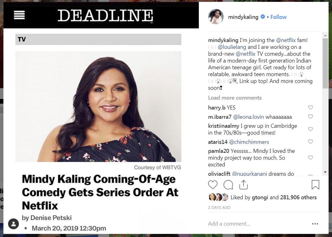 @MindyKaling Instagram