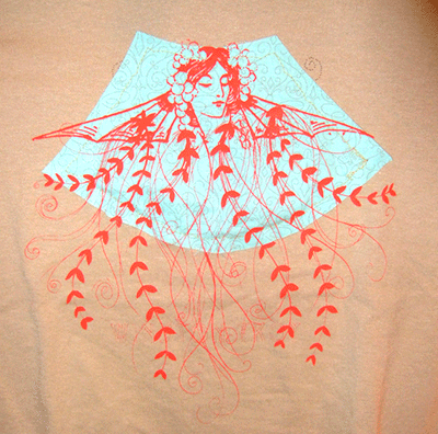 2010: Winston Troy: Applique & Screenprinted shirt detail