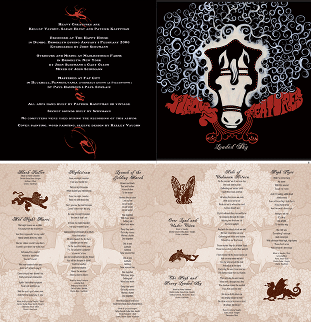 "2006: Heavy Creatures: ""Loaded Sky"" CD Insert"