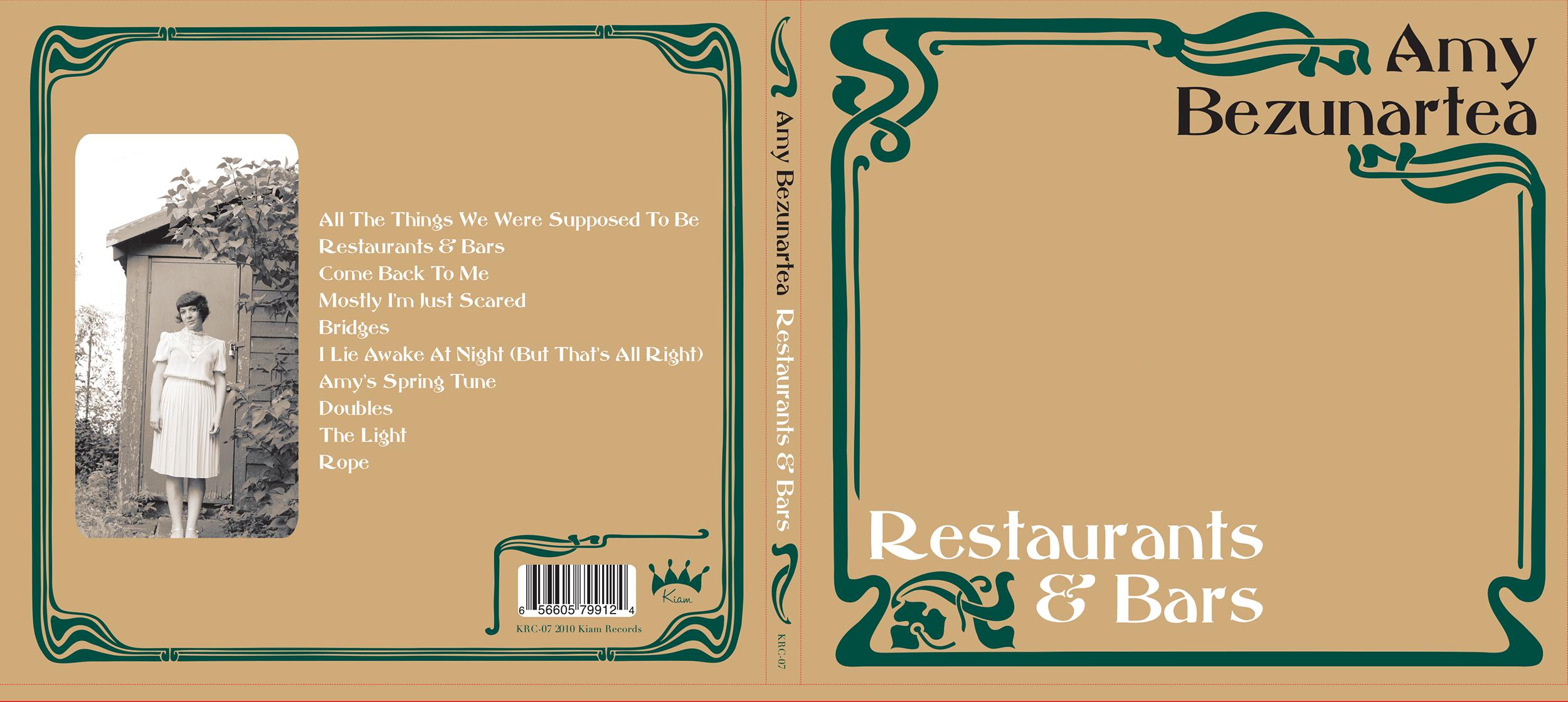 "2010: Amyu Bezenartea ""Restaurants and Bars"" CD Cover (front)"
