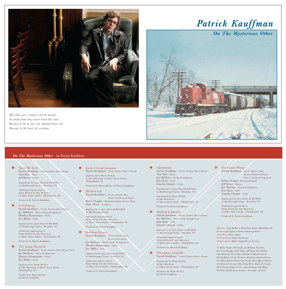 "2004: Patrick Kauffman ""On The Mysterious Other"" CD Insert"