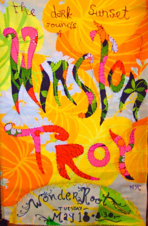 2010: Hand-Sewn Tour Poster for Winston Troy (Atlanta)