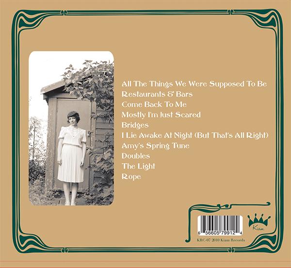 "2010: Amyu Bezenartea ""Restaurants and Bars"" CD Cover (back)"