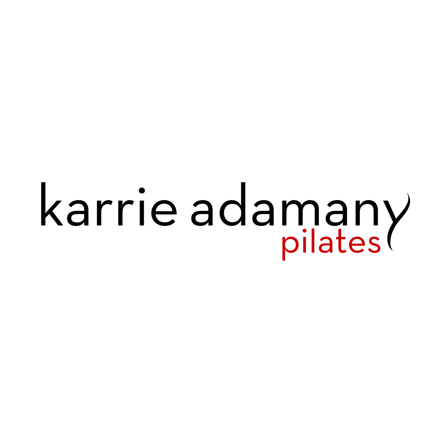 Karrie Adamany Pilates | Brooklyn, NY   Karrie Adamany is a fantastic pilates instructor. This logo represents the subtle yet powerful movements in pilates.