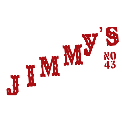 2007: Jimmy's No. 43 | New York, NY   Business card for Jimmy's No. 43 in the East Village, which was located on 7th street between 2nd Ave. & 3rd Ave.