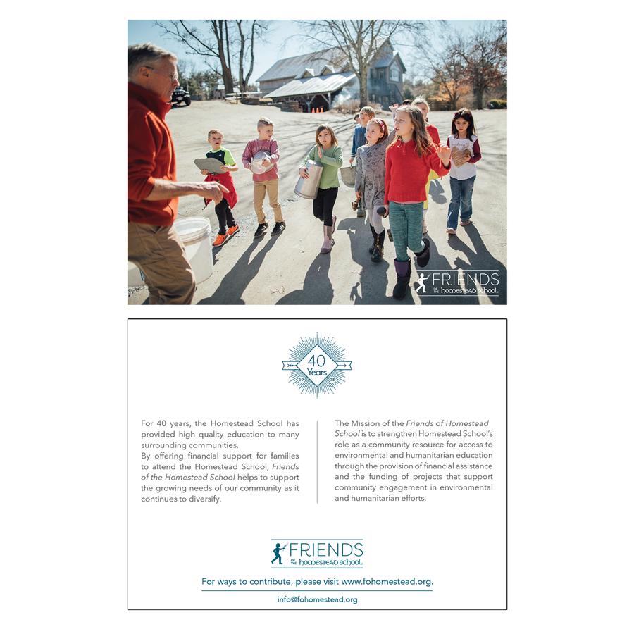 Friends of Homestead School   Glen Spey, NY   Generic fundraising postcard