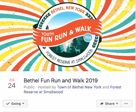Facebook  Event graphic for The Bethel NY Youth Fun Run & Walk