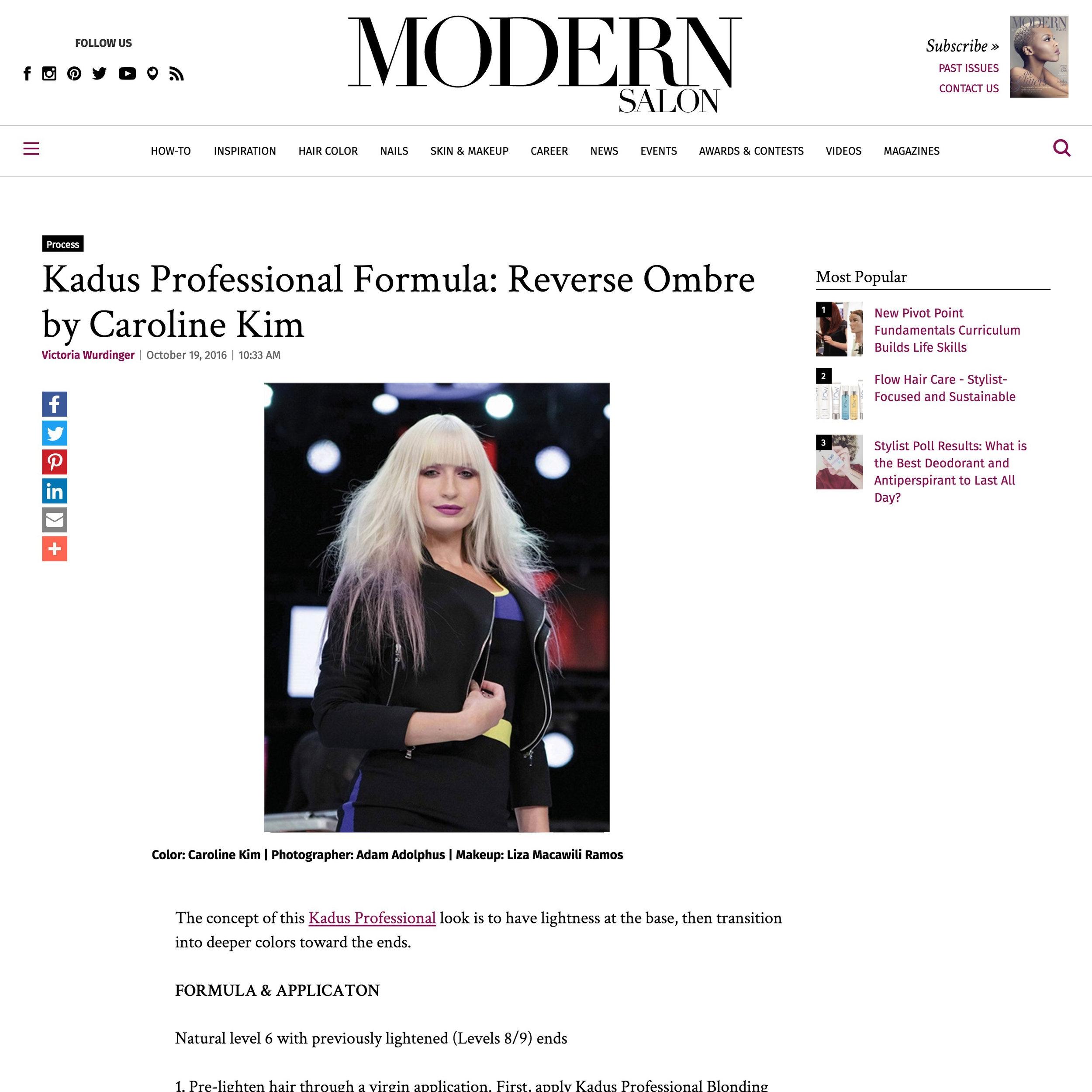 Modern Salon<br />October 19, 2016