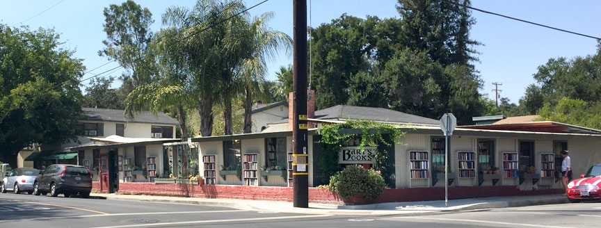 Bart's Books is located on on the corner of Matilija and Canada streets in Ojai, Ca.
