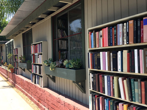 Used books on the exterior shelving are for sale on the honor system - starting at 35¢ each.
