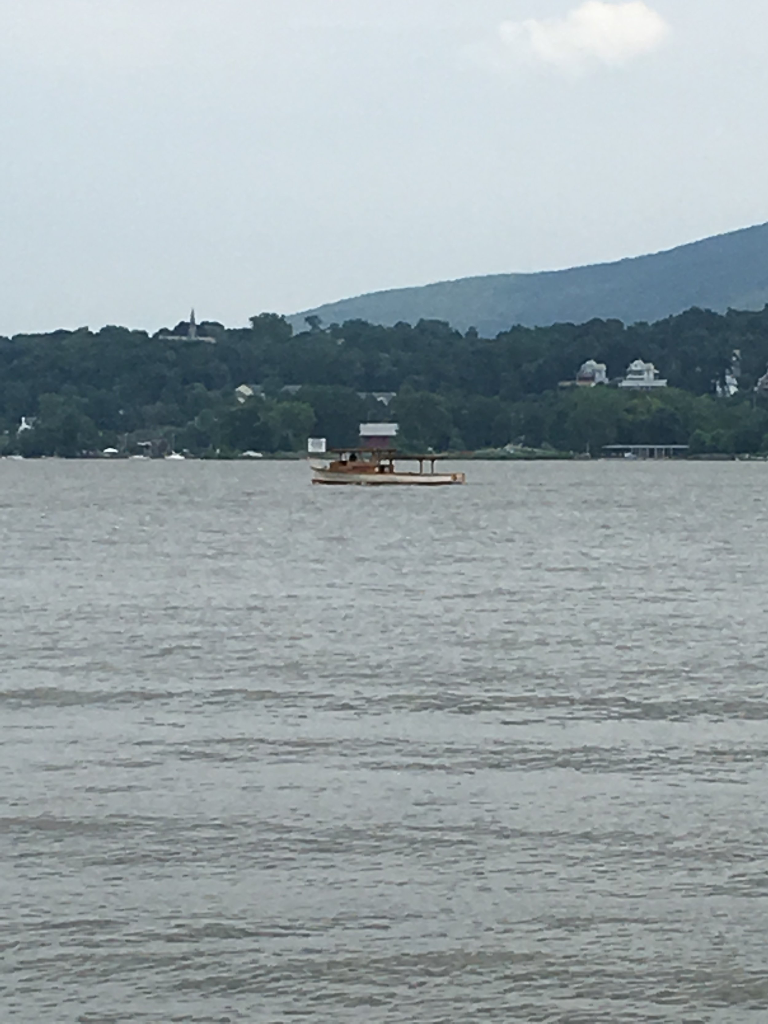 Solar Sal on her way back up to Troy from Newburgh, July 23