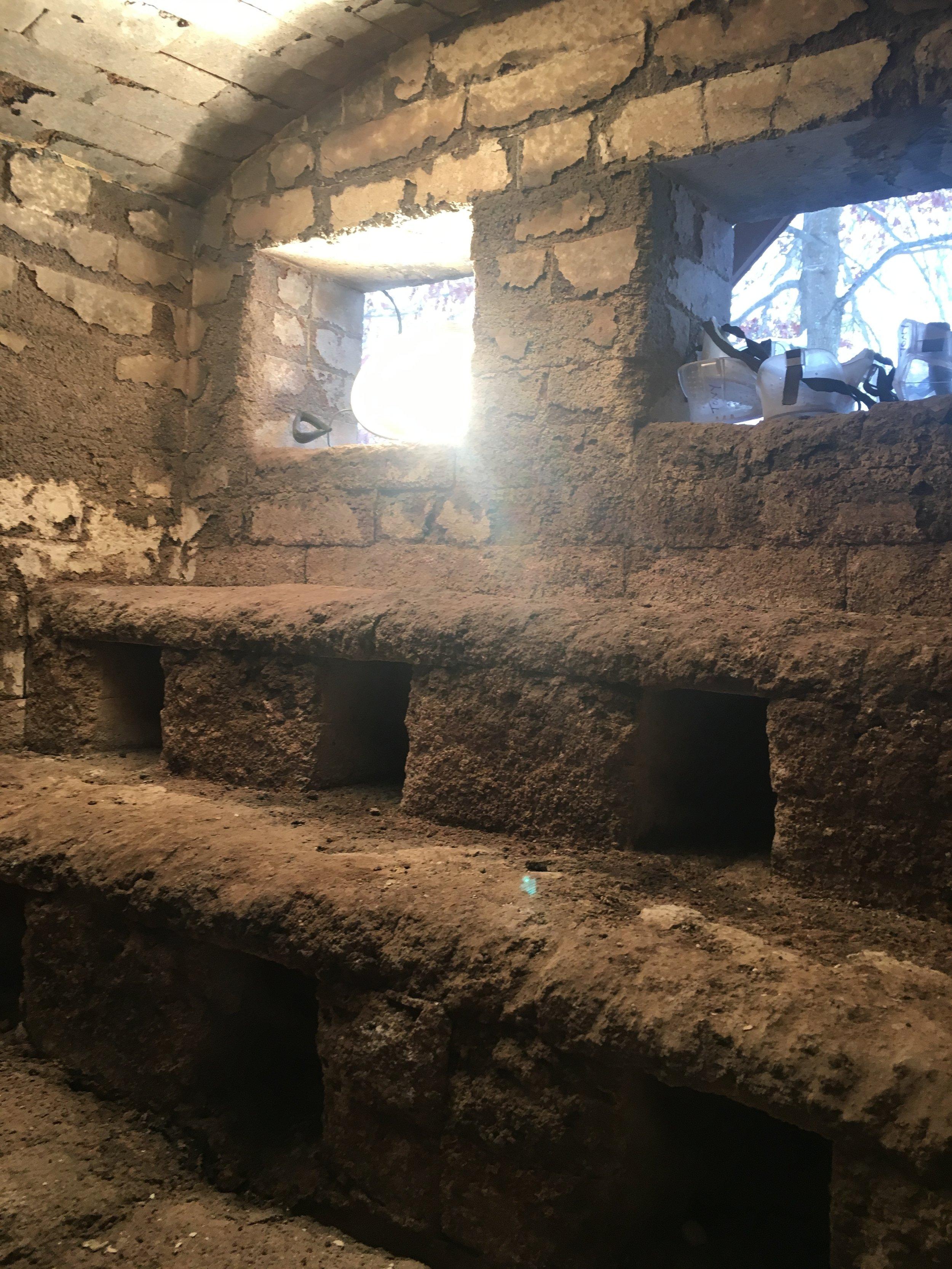 inside the anagama