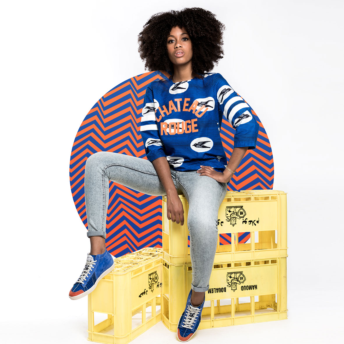 SAWA x Maison Château Rouge    Can you imagine the urban remix of an African mum traditional outfit?   Maison Château Rouge  and  SAWA  Shoes sample indigo from  Mali , we twist  African  loincloths and we cut premium leathers from  Ethiopia … 3 sweats and 3 pairs of sneakers emerge from this unexpected mashup !   www.maison-chateaurouge.com
